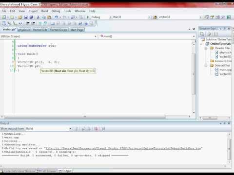 Advanced C++ Tutorials 2 : Vectors & Physics : Cross Product