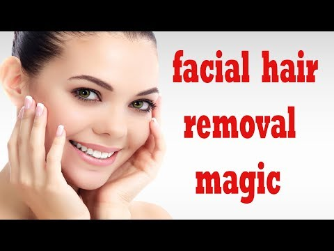how to remove facial hair permanently | get rid of facial hair naturally | facial hair removal magic
