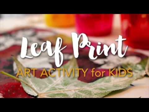 Leaf Print Activity for Kids