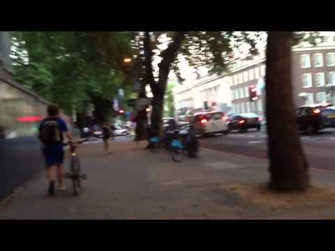 Walking down Euston Road London