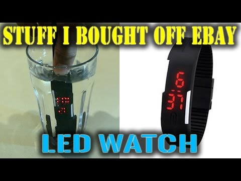 $1.70 eBay LED Watch Review  |  STUFF i BOUGHT OFF eBAY