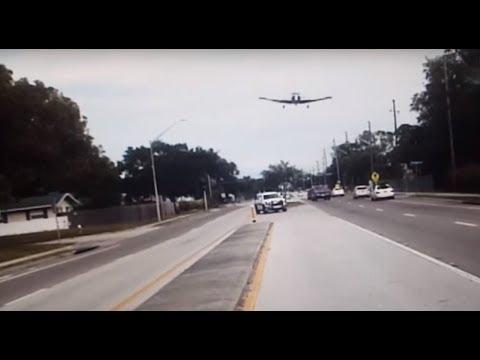 Dash-cam Captures Plane Crash in Clearwater, Florida Highway - November 19, 2017