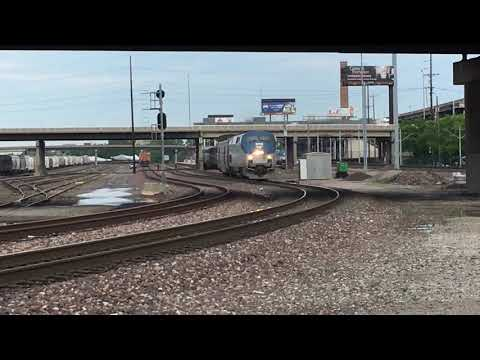 Amtrak #22 the northbound Texas eagle leaving St. Louis for the Pana sub reroute and Chicago