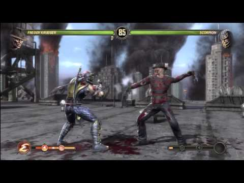 Mortal Kombat 9 - Freddy Krueger VS Scorpion (+ Freddy's Ending)