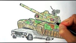 Tank nece cekilir(Ehedov Elnur)Как нарисовать Танк_How to Draw a Tank Tank masini ezen yerde seklini cekmek_Рисуем как танк раздавила машину  Production Music courtesy of Epidemic Sound!