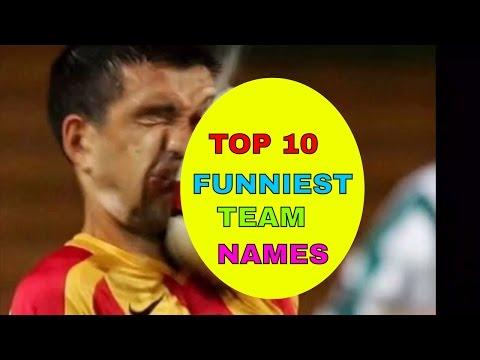 Top Ten Funny Football Team Names