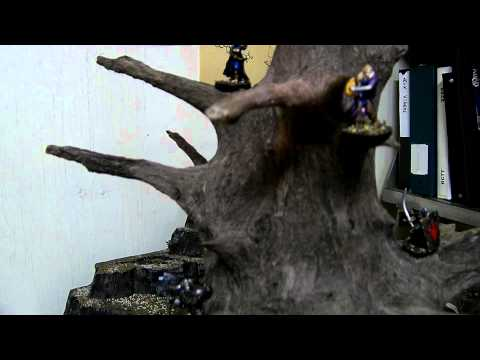 Miniature Terrain WIP - Giant Elven Tree - Lord of the Rings