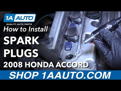 How to Install Replace Spark Plugs 2008 Honda Accord
