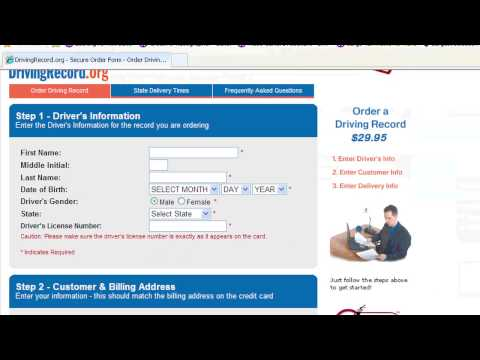 Driving Lessons : How to Check Your Driving Record Online