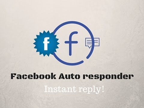 How to enable instant reply for your facebook page
