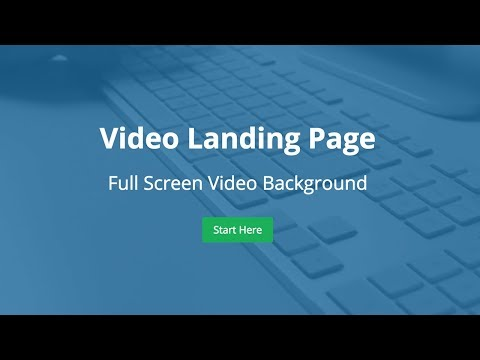 Full Screen Video Landing Page - HTML5 and CSS3 Tutorial