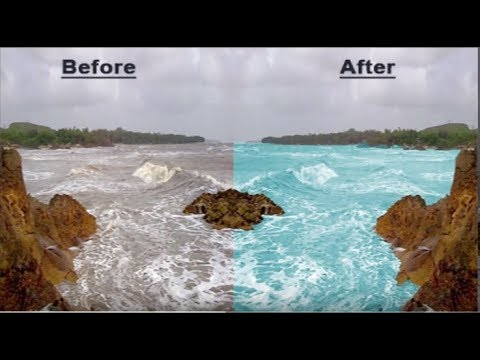 Photoshop : How to Change  Water Color in Photoshop |watercolor photoshop