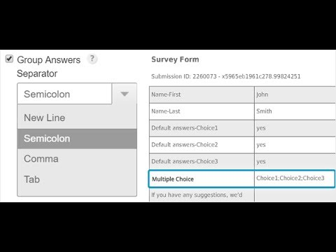 New Feature | Grouped Answers for Multiple Choice Fields