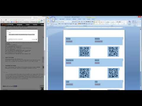 Creating Name Badges Mail Merge - CHECKINEASY.COM