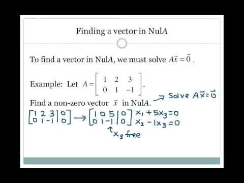2.8 Null Space of a Matrix