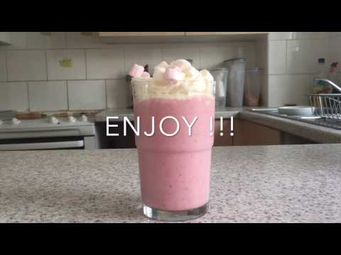 How to make an amazing, ice-cream and strawberry milkshake!!!