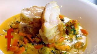 Gordon Ramsay Demonstrates How To Make Monkfish With A Mussel Broth   The F Word