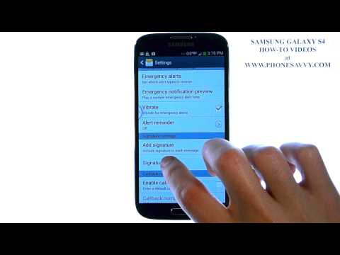Samsung Galaxy S4 - How Do I Add a Signature to my Text Messages