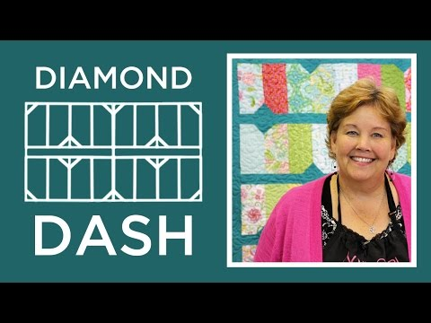 The Diamond Dash Quilt: Easy Quilting Tutorial with Jenny Doan of Missouri Star Quilt Co