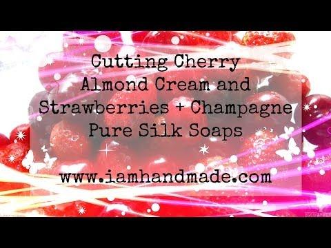 Cutting of Cherry Almond Cream & Strawberries + Champagne July 2014
