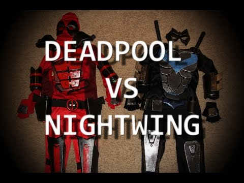 Deadpool VS Nightwing - DIY Cosplay Armour for Kids!