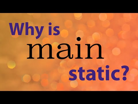 Why is the main method static in Java? - Java Explanations