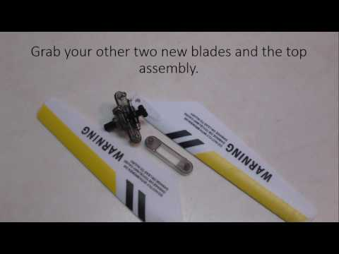How To Replace Broken S107 Helicopter Rotor Blades
