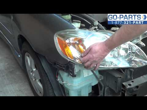 Replace 2003-2008 Toyota Corolla Headlight / Bulb, How to Change Install 2004 2005 2006 2007