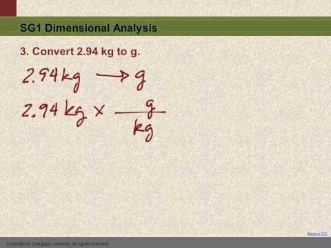 10 SG1 #3 Convert kg to g