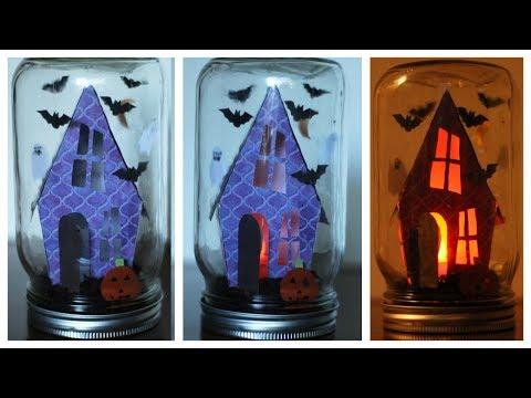 How To Make A Halloween Snow Globe (Mason Jar - No Water) 🎃