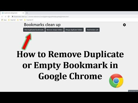 How to Find Duplicate, Empty or Broken Bookmark in Google Chrome on Windows 10/8.1/7