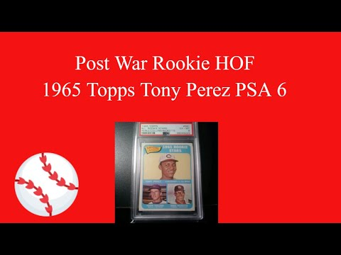 Tony Perez 1965 Topps Rookie. Post War Rookie HOF PSA SET REGISTRY