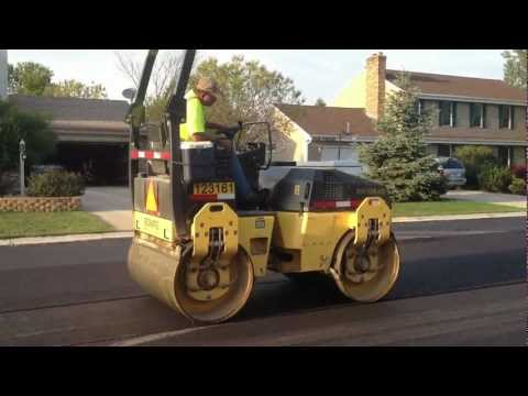 Road Construction Steamroller in Germantown
