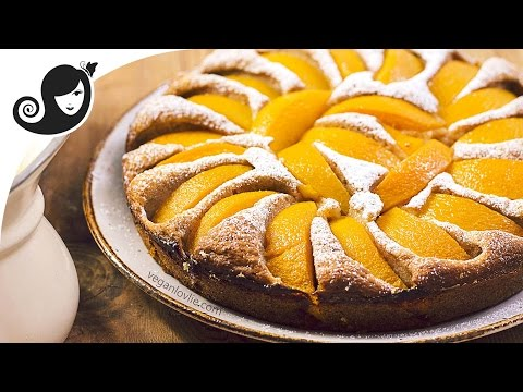 Moist Peach Cake | Easy Vegan Cake Recipe