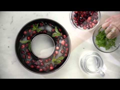 DIY Punch Bowl Cranberry Ice Ring