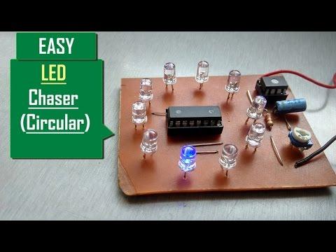How to make LED chaser Very Easy (circular LED chaser) (Running LED s)