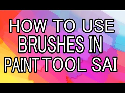 Paint Tool Sai Walkthrough:Brushes