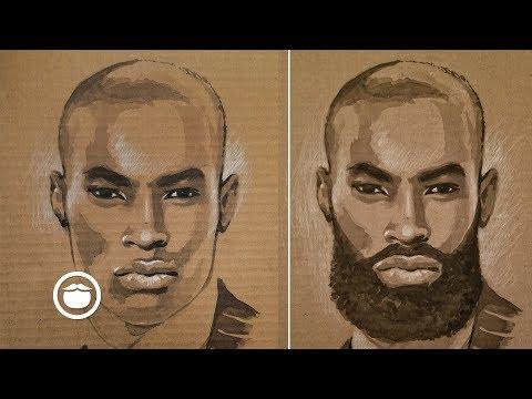 Beardless to Bearded: Painting Tyson Beckford Timelapse