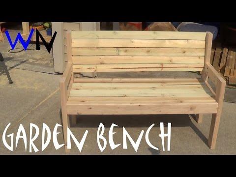 Building a Garden Bench |  Steve's Design
