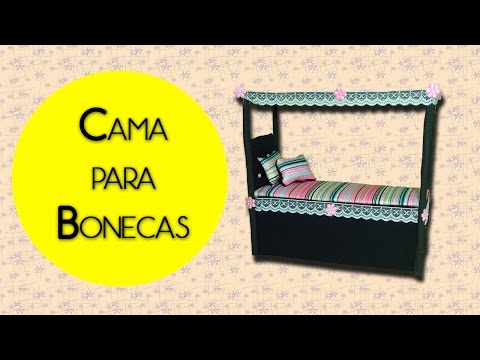 DIY - CAMA DRACULAURA / HOW TO MAKE A DOLL BED (MONSTER HIGH)