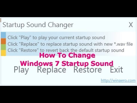 How to change windows 7 startup sound simple hindi