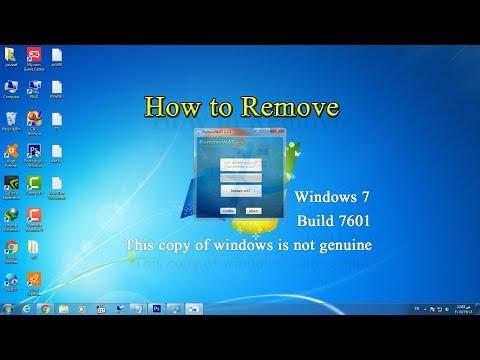 كيفية إزالة Windows 7 build 7601 this copy of windows is not genuine