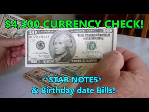 $4,300 US Currency Check  *STAR NOTES* & BIRTHDAY Bills! Diggin' w/ Rob!