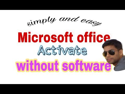 how to activate Microsoft office 2016  without softwere simpale and easy  in hindi