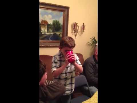 Sam eating pepper shooters