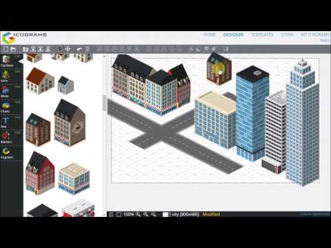 Design your first 3D City Map in Icograms