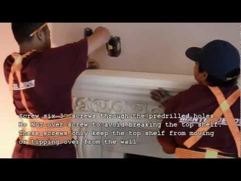How to Install a Cast Stone Fireplace Mantel on a Masonry Fireplace by Mantel Depot