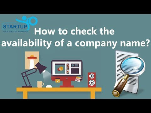 How to Check the Availability of a Company Name - StartupYo