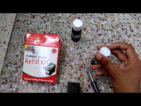 How to refill HP 803 cartridge