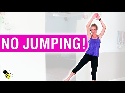 LOW IMPACT CARDIO | 10 Minute, 100 Calorie Barefoot Fat Burning Workout without Jumping